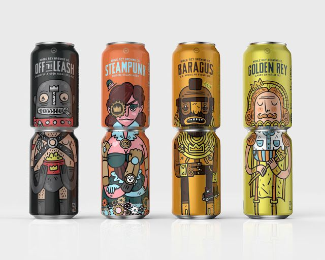 Noble Ray Brewing Co. beer packaging design inspiration