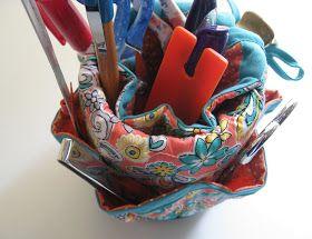 Vicki's Fabric Creations: Mug-Can Organizer -Tutorial