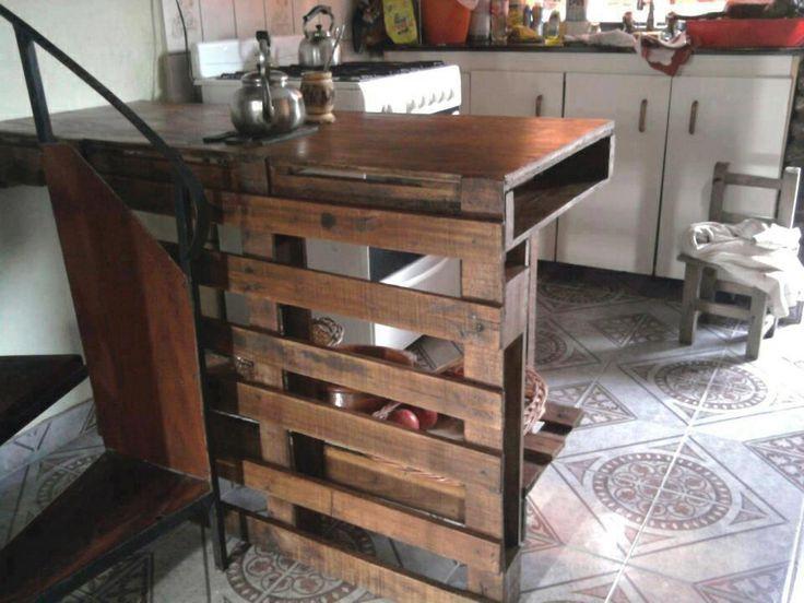 Como decorar una cocina peque a rustica con palets - Como disenar una cocina rustica ...