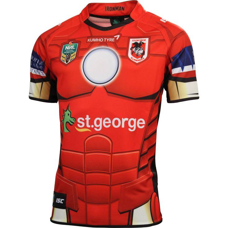 St George Illawarra Dragons 2014 Men's Ironman Jersey - NRL Megastore