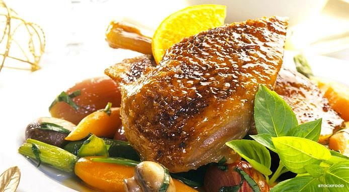Anatra arrosto con salsa all'arancia