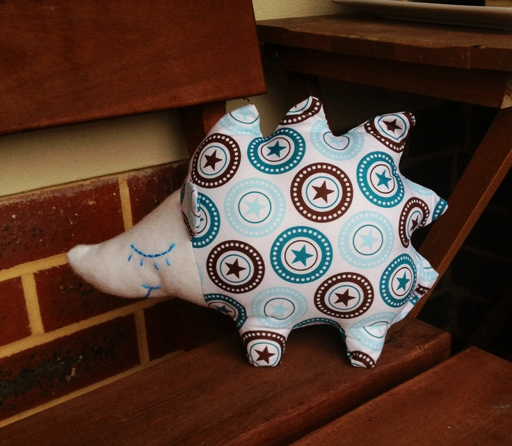 Gorgeous hedgehog made from one part of a fat quarter pack x