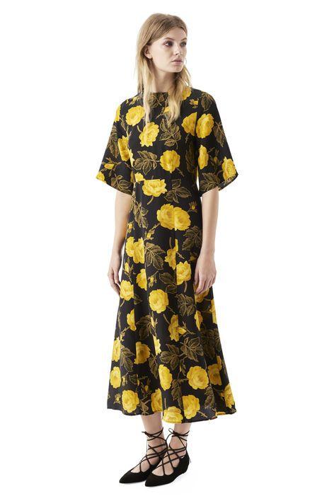 Lee Silk Dress, Fusion Rose Ganni
