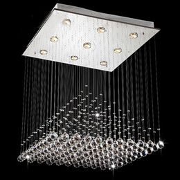 discount chandeliers glass balls hanging modern wave k9 crystal hanging wire ball square pendant lamp - Discount Chandeliers