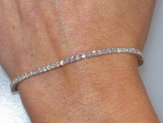Diamond Tennis Bracelet 1.80ctw 18kt white gold Diamond Bracelet Anniversary Wedding Birthday Gift Jewelry Engagement Gift Diamond Jewelry