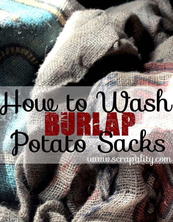 How to Wash Bulap Potato Sacks #burlap #crafts www.scrapality.com