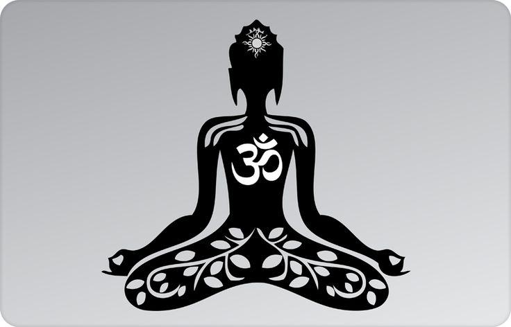 OM Mantra Meditation Apple Decal by #skinsutra  #apple #yoga #indian #om #mantra #ommantra #meditation #spiritualdesign #yogadesign #buddha #indian #vinyldecal #vinaldesign #vinyl #appledesign #macbook #macbookdecal #appledecal #macbookskin #appleskin #laptopskin