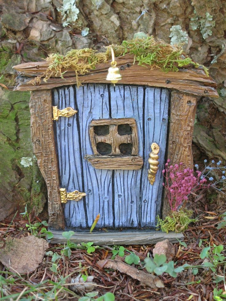 Fairy houses for the garden found on for Outdoor fairy door