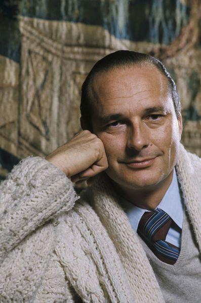 Portrait de Jacques Chirac, novembre 1976