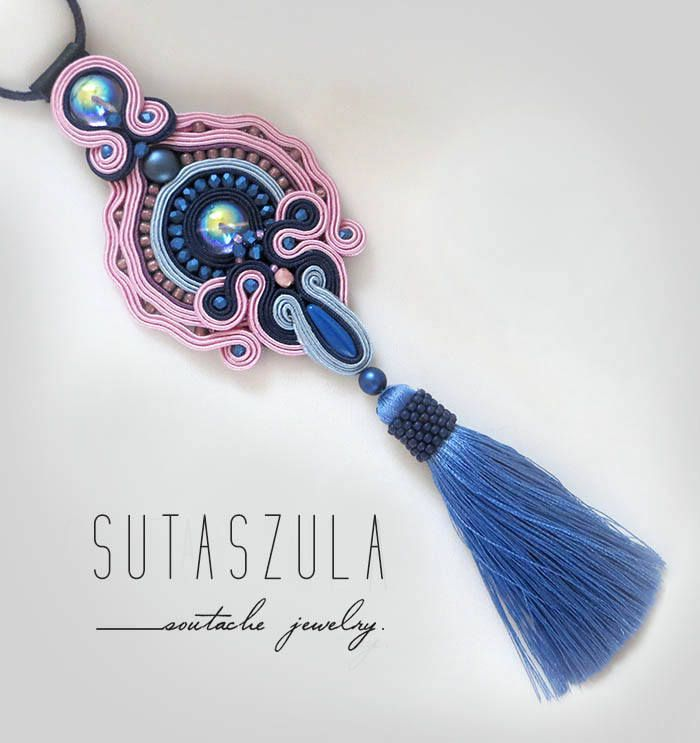 Excited to share the latest addition to my #etsy shop: Powder Pink blue soutache necklace pink tassel necklace soutache OOAK pale pink necklace Boho chic tassel necklace, beaded tassel necklace http://etsy.me/2BE9xIV #pastelnecklace #sutaszula #etsyshop #powderblue