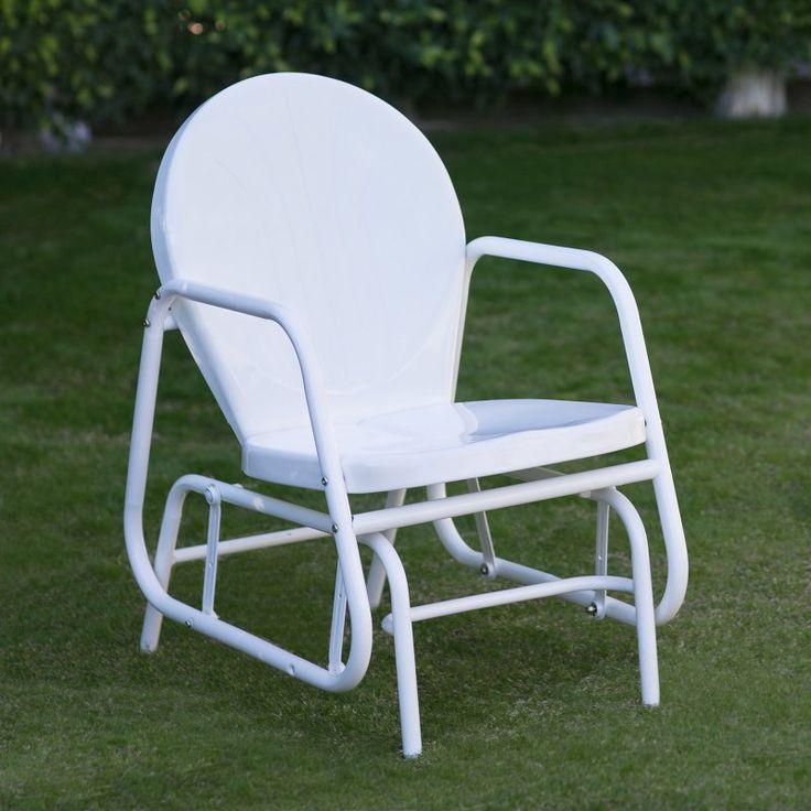 Coral Coast Vintage Retro Outdoor Glider Chair White - SB-DGC-216 WHITE
