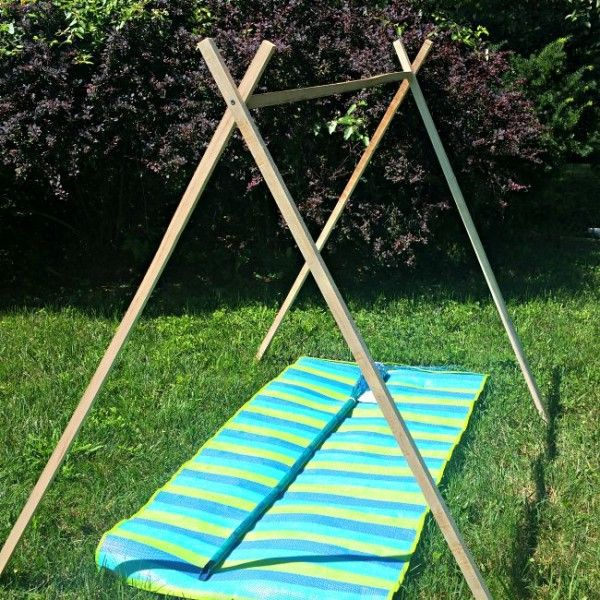 11 best ideas about backyard camping ideas on pinterest for Build your own canopy frame