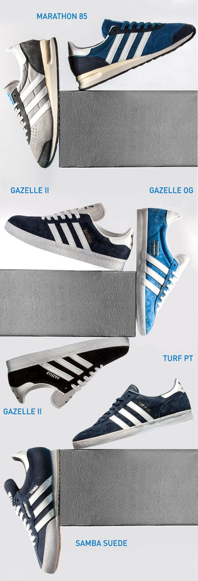 adidas Originals - Marathon 85, Tuft PT, Samba Suede, Gazelle OG, Gazelle
