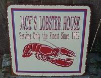 Antiqued Tin Jack's Lobster House Sign