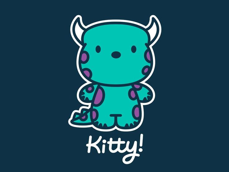Kitty!! (mosters inc.) I think I just want this image on something- it's SO cute!!