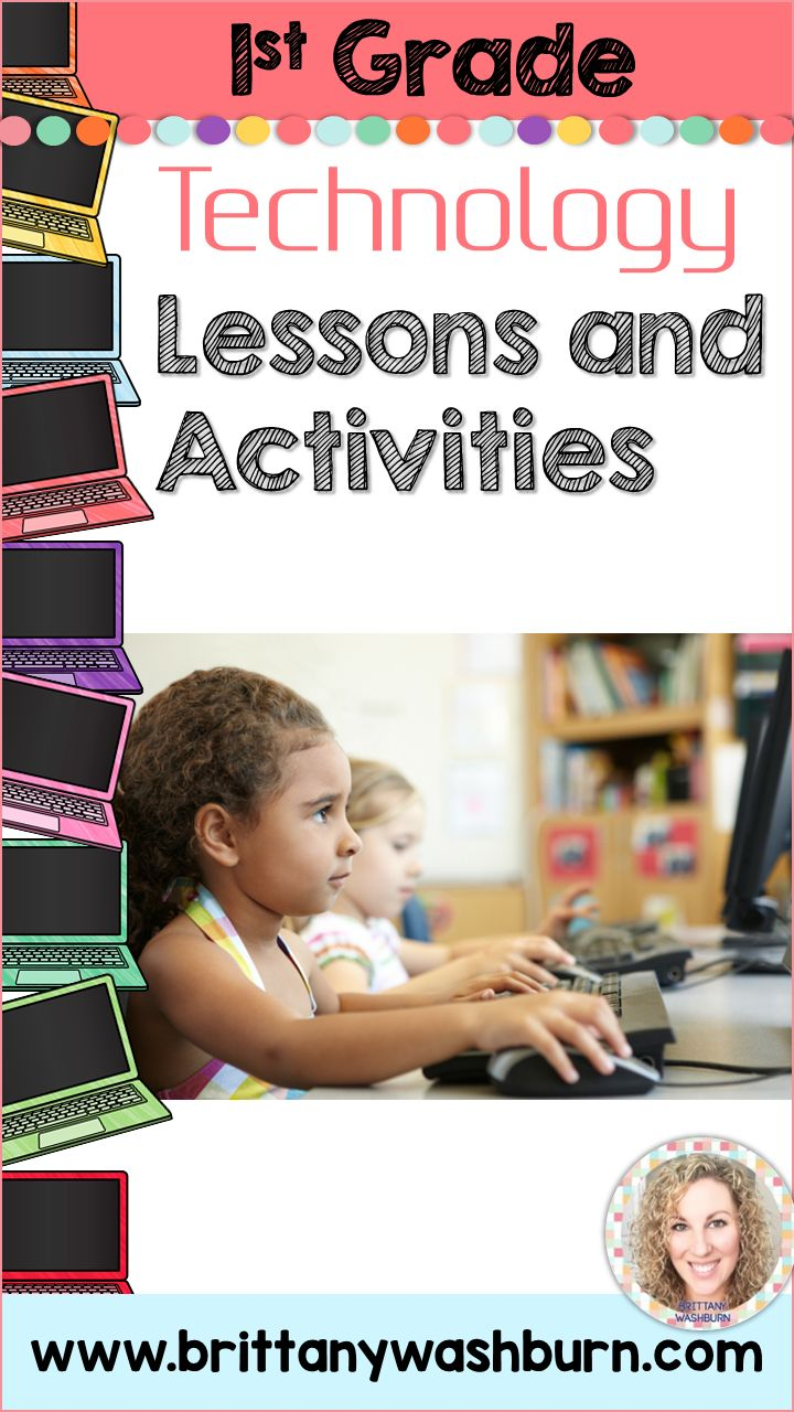 1st grade technology lesson plans and activities for the entire school year. These lesson plans and activities will save you so much time coming up with what to do during your computer lab time. Ideal for a technology teacher or a 1st grade teacher with mandatory lab time. All of the work is done for you!
