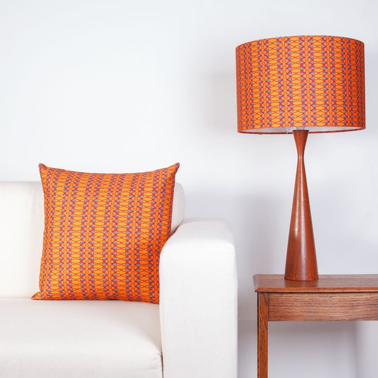 Beetle Stripe lampshade and cushion by Clementine & Bloom