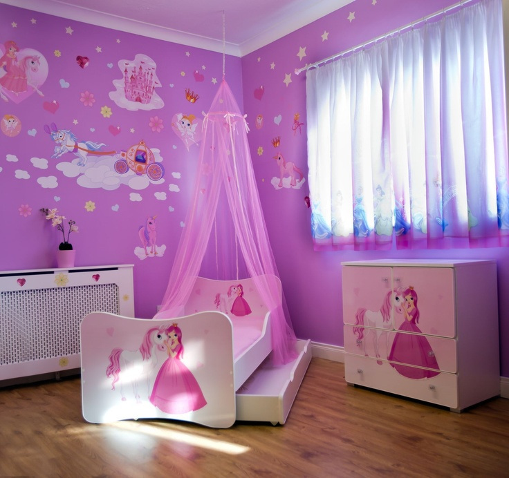 Princess Kids Bedroom Sets Interior Of Master Bedroom Newborn Boy Bedroom Ideas Bedroom For Kids: Kids Princess Beautiful Pink Bed Canopy New For Girls