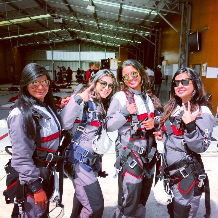 INDIAN CRICKET WIVES - Tanya Yadav, Puja Pujara, Preethi Ashwin and Sakshi Dhoni -Out for their NZONE Skydive (Queenstown)