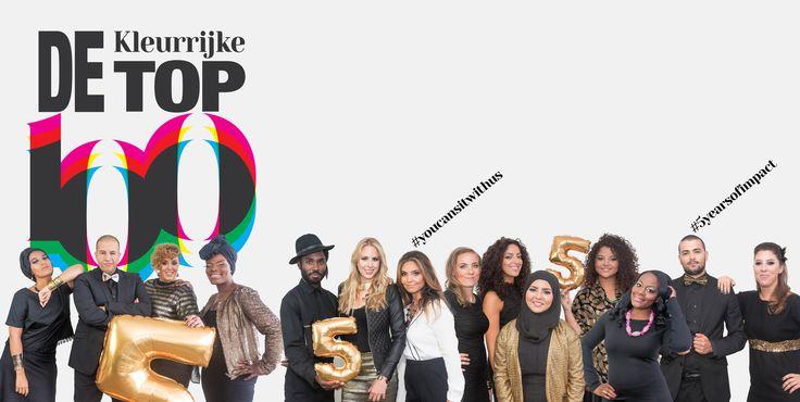 De Kleurrijke Top 100 is een lijst van invloedrijke en kleurrijke Nederlanders als antwoord op de huidige top lijsten. Diversiteit 3.0, geen 'allochtonenlijst'.