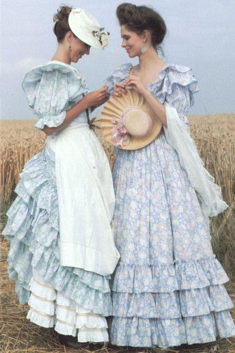 Laura Ashley- the style To which I aspired as a teenager....hilarious!!