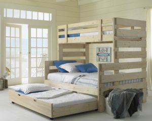 Twin Over Full Bunk Bed with Trundle Bed from 1800BunkBed