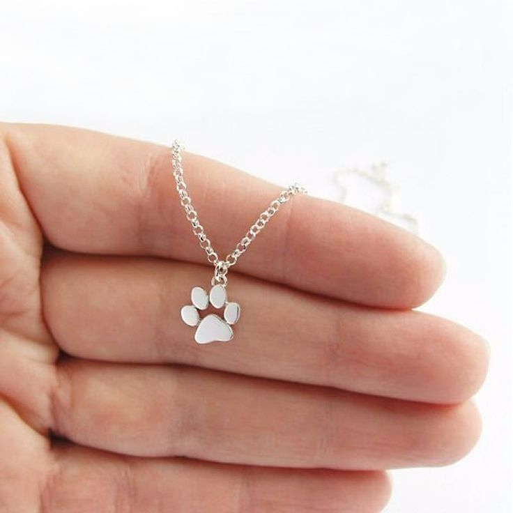 Wholesale 10Pc Cute Bear Palm Dog Print Pendants Necklaces Mix Color Link Chain Kids Girls Festival Gift Free Shipping