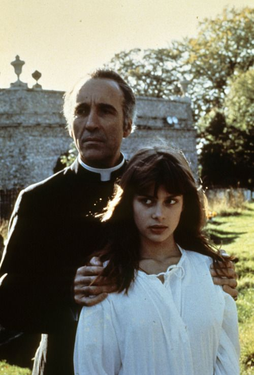 Christopher Lee and Nastassja Kinski in To The Devil… A Daughter, 1976.