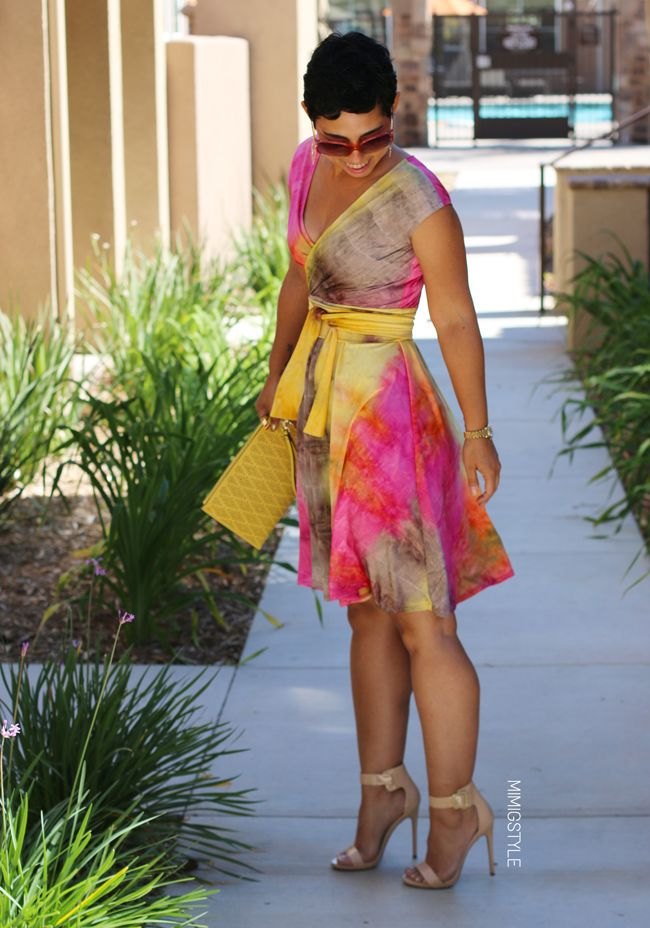 Mimi G Style: DIY Fashion Sewing: DIY Tie Dye Dress + Pattern Info V1027