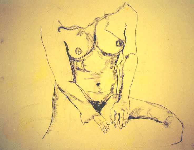 """""""Nude"""" 76x99cm Charcoal on paper (framed)  Simply a drawing of a woman…."""