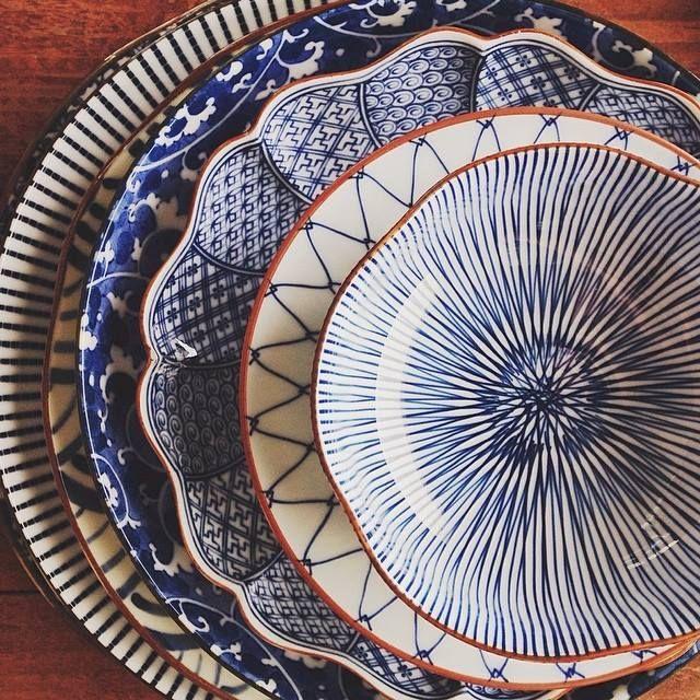 Japanese Blue Dishes