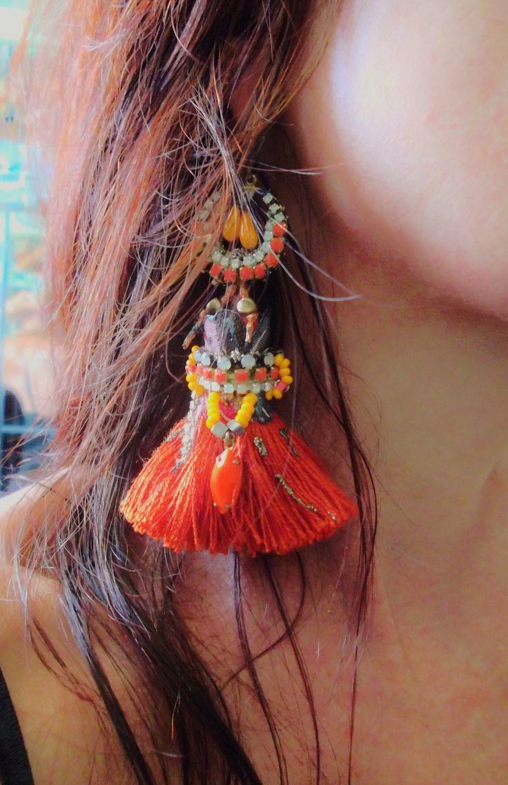"""boucles d'oreilles ethniques """"Comme un volcan..."""" Baroketnik- collection été 2014 : Boucles d'oreille par dmyasha"""
