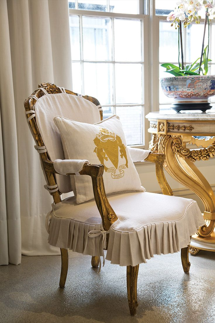 Country crafted wooden chair and stool ebth - Interior Designer Beth Claybourn S Stunning New Orleans Gallery Victoriamag Com