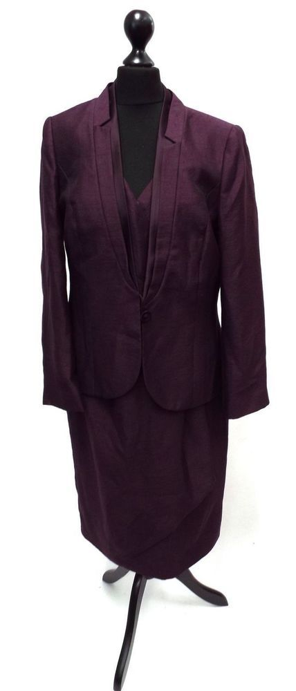 Jacques Vert Ladies Vintage Suit Sleeveless Dress & jacket Blazer RRP £159.00
