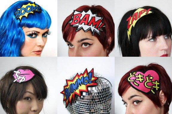 Super Style: Sound Effect And Speech Balloon Accessories! I am doing a superhero theme for my hubby's 30th. I must figure out how to make these!