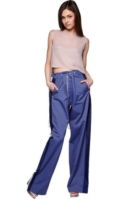 Spodnie szerokie z lampasami