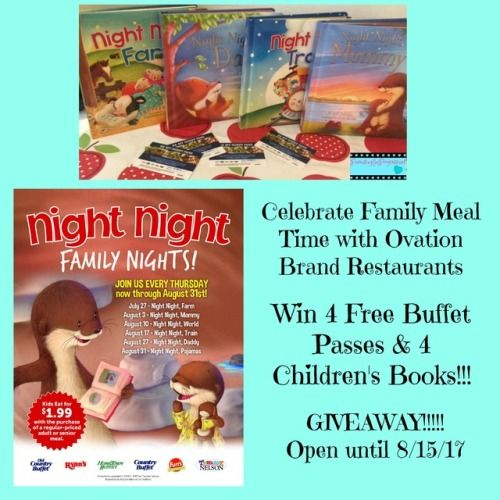 Win 4 free buffet passes good at any Ovation Brand... sweepstakes IFTTT reddit giveaways freebies contests