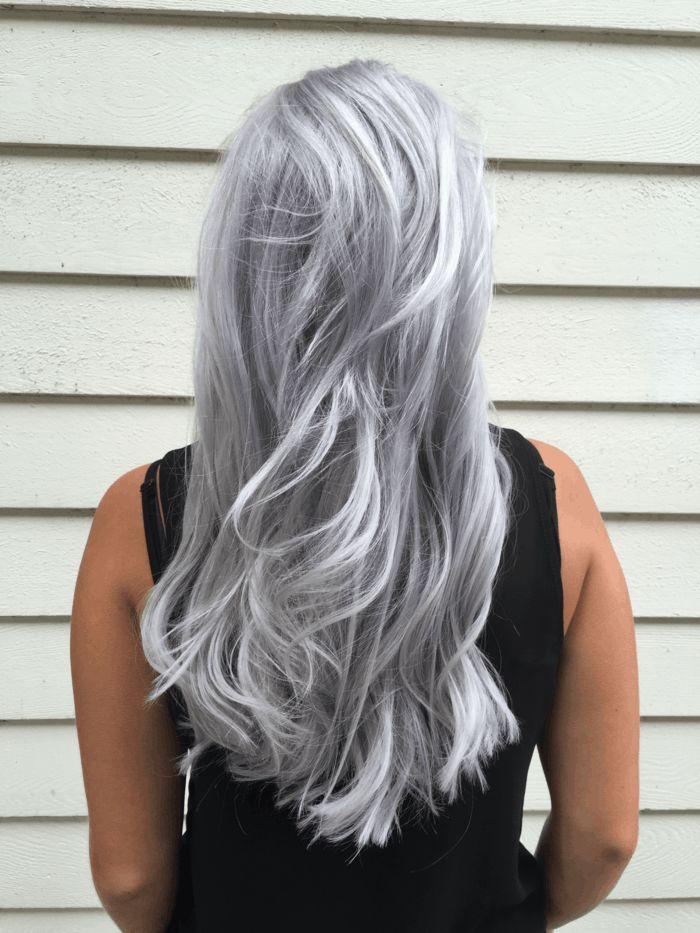 les 25 meilleures id es de la cat gorie cheveux blonds gris sur pinterest blonde grise blond. Black Bedroom Furniture Sets. Home Design Ideas