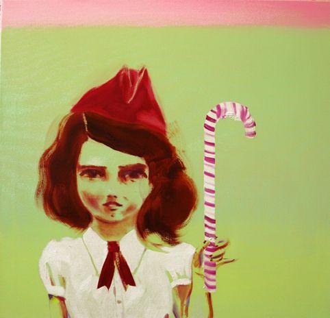 Molla ja karkkitanko / Molla and Candy Cane, 110 cm x 115 cm, Katja Tukiainen 2009