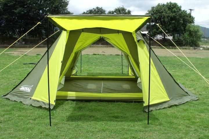 High-Grade Automatic 3-Tier 5+ Person Waterproof Four-Season Tent