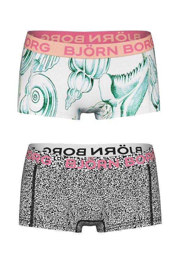 Bjorn Borg boxer voor meisjes Shell 2-pack | Bjorn Borg mini bpxer for girl Shell 2-pack #underwear #girl #boxer #panties #hipster #kinderondergoed #meisje