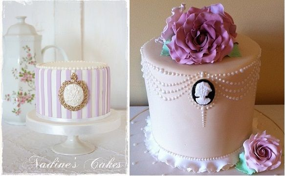 Cameo Cakes by Nadine's Cakes (left) and Cakes By Lea (right)