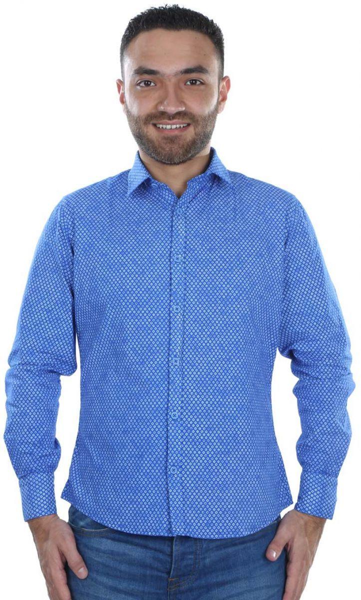 b2e4a5bd5 Buy BLOOKER Light Blue Cotton Shirt Neck Shirts For Men - Tops