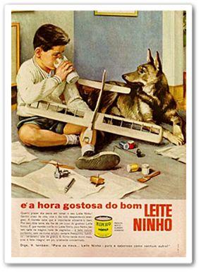 From Blog Caríssimas Catrevagens...: JÁ TOMOU SEU LEITE NINHO HOJE? Anúncio dos anos 50