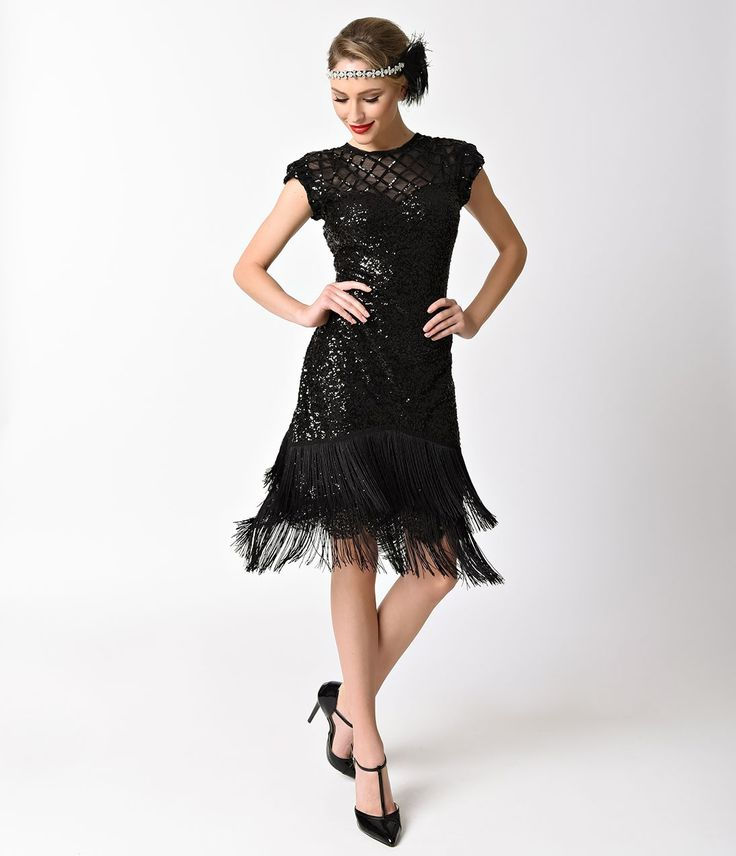 Best 25+ Black flapper dress ideas on Pinterest | Vintage ...