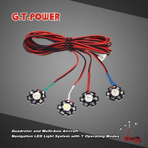 G.T.POWER Navigation LED Light System with 7 Operating Modes for  Quadcopter Multi-Axis Aircraft