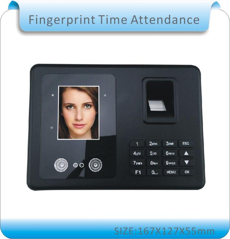 Free shipping  Biometric Fingerprint & face Time Attendance Clock Recorder Employee Digital Electronic English menu& Human voice #Affiliate