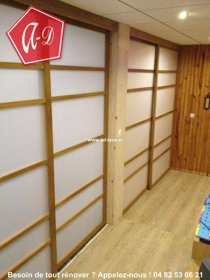 169 best cloison japonaise coulissante et porte images on pinterest. Black Bedroom Furniture Sets. Home Design Ideas