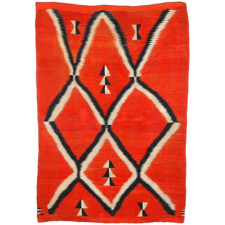 19th Century, Navajo Transitional Blanket   From a unique collection of antique and modern indian rugs at https://www.1stdibs.com/furniture/rugs-carpets/indian-rugs/
