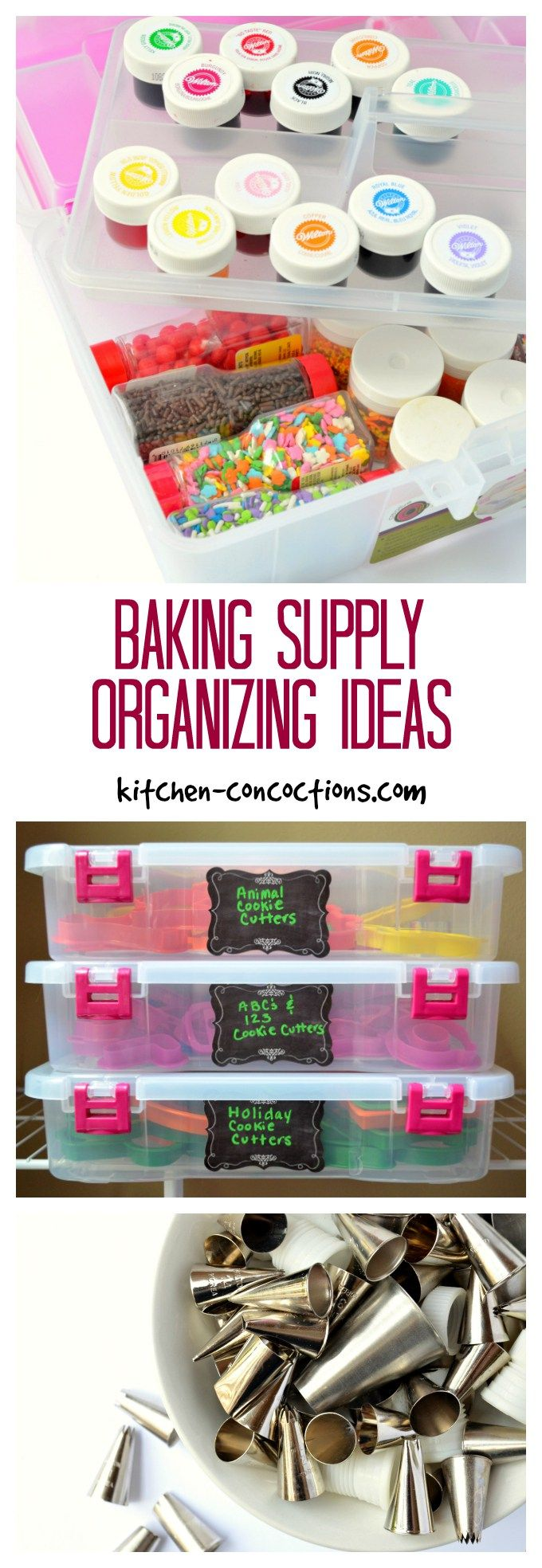 baking supply organizing ideas if you are an avid cake baker and cookie decorator - Cake Decorating Supplies Near Me